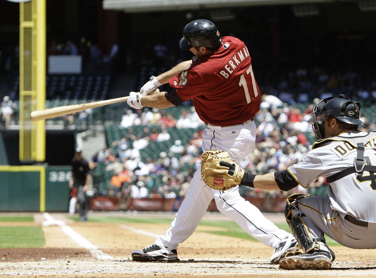 Switch hitter Lance Berkman batting left-handed.