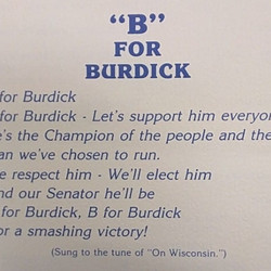 Only time I hated Quentin Burdick. More on him below...