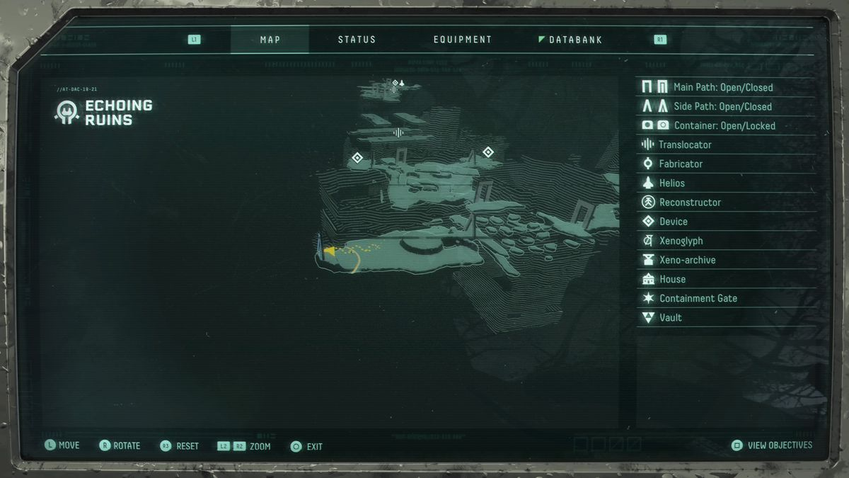 Echoing Ruins Sunface Fragment map location