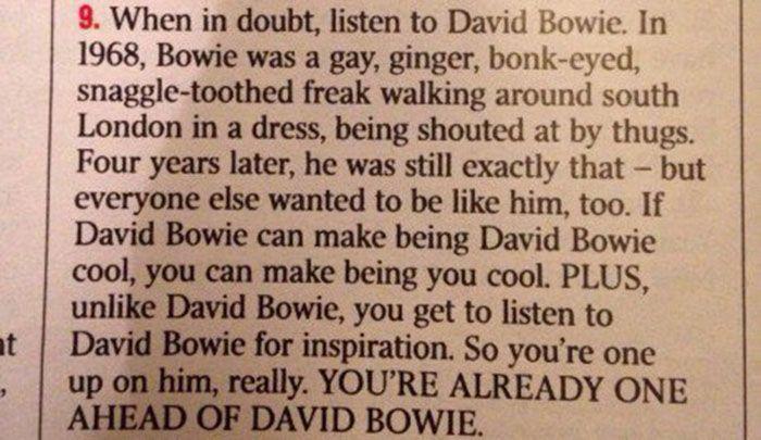 bowie advice