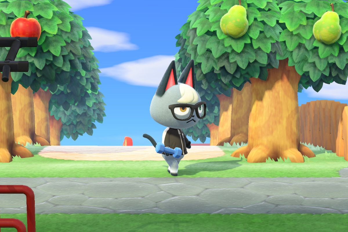 Raymond in Animal Crossing.