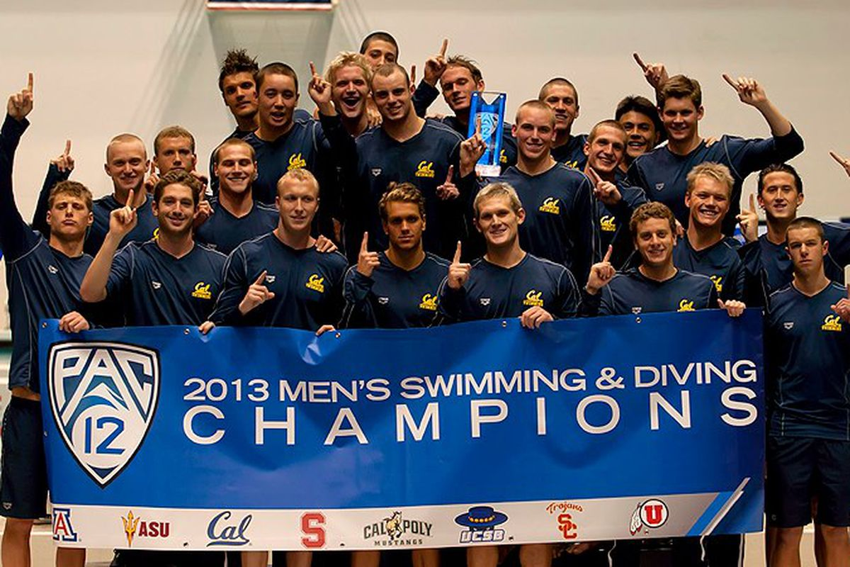 Bears are looking to repeat as Pac-12 Champions in Men's Swimming and Diving