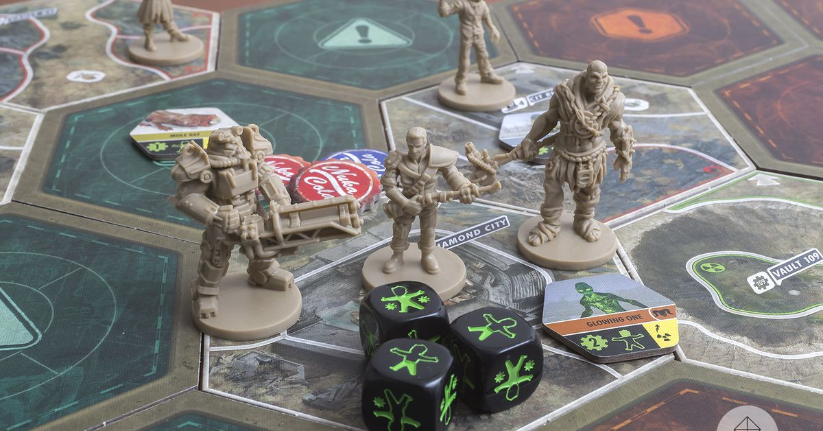 Fallout board game celebrates the series' excellent storytelling - Polygonclockmenumore-arrownoyespoly-lt-wire-logo image