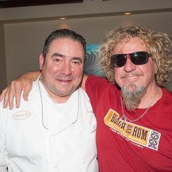 Emeril Lagasse and Sammy Hagar at the Venetian's Tiki Party. Photo: Tom Donaghue