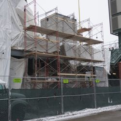 Possible elevator shaft, in the right field corner