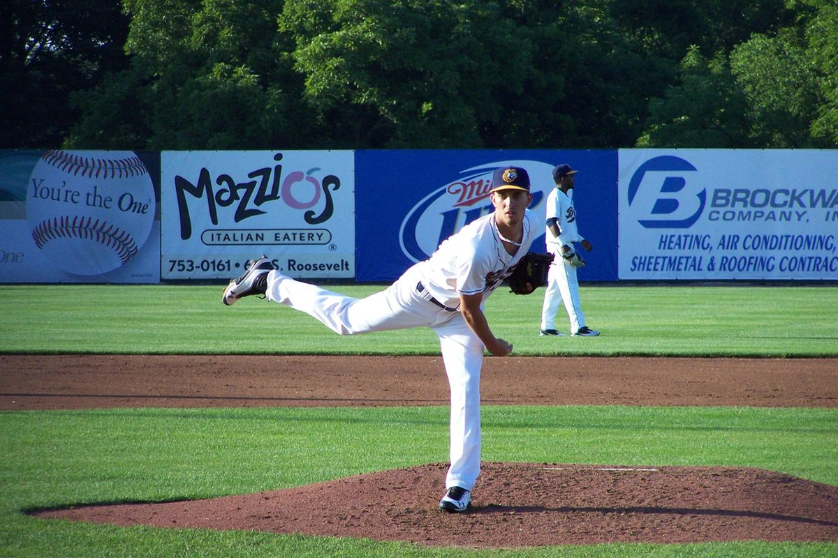 Oakland Athletics pitching prospect A.J. Cole (Photo by John Sickels, SB Nation/Minor League Ball)