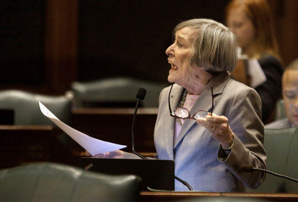 Democratic House Majority Leader Barbara Flynn Currie will not seek reelection. (AP Photo/Seth Perlman)