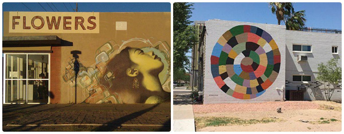 Murals in downtown Phoenix