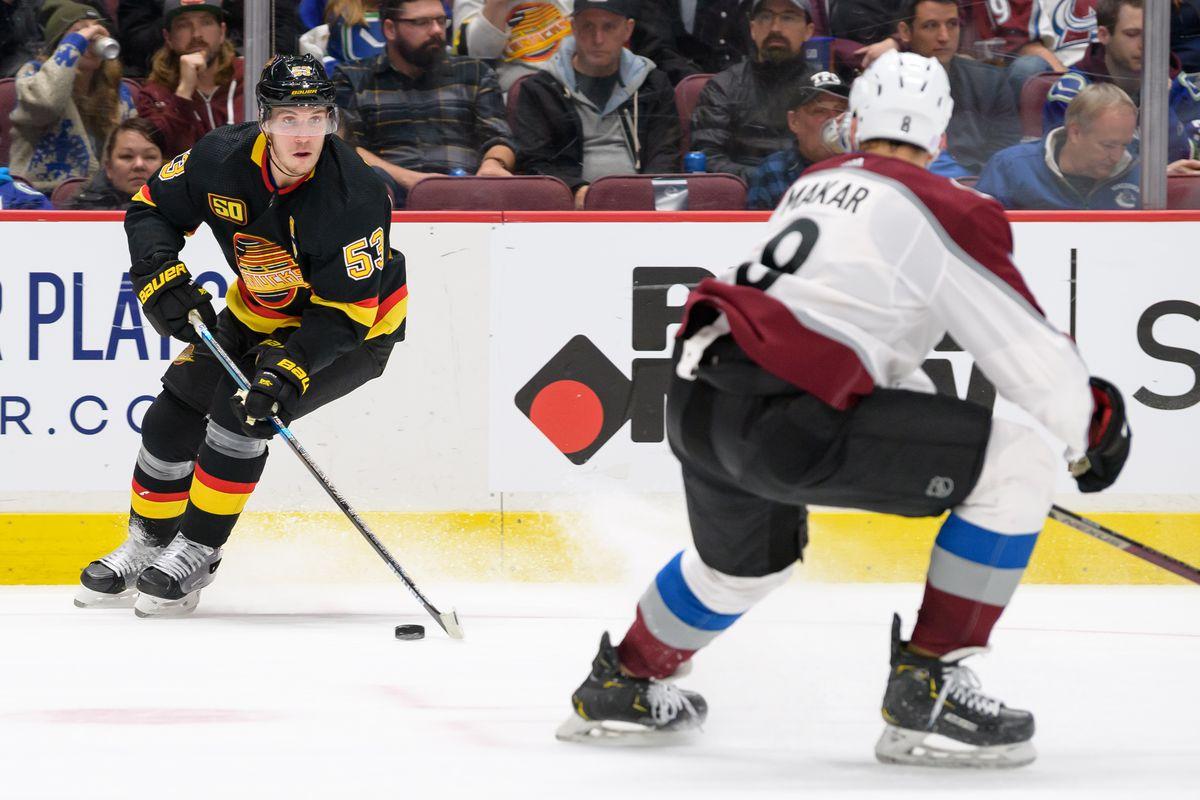 NHL: NOV 16 Avalanche at Canucks