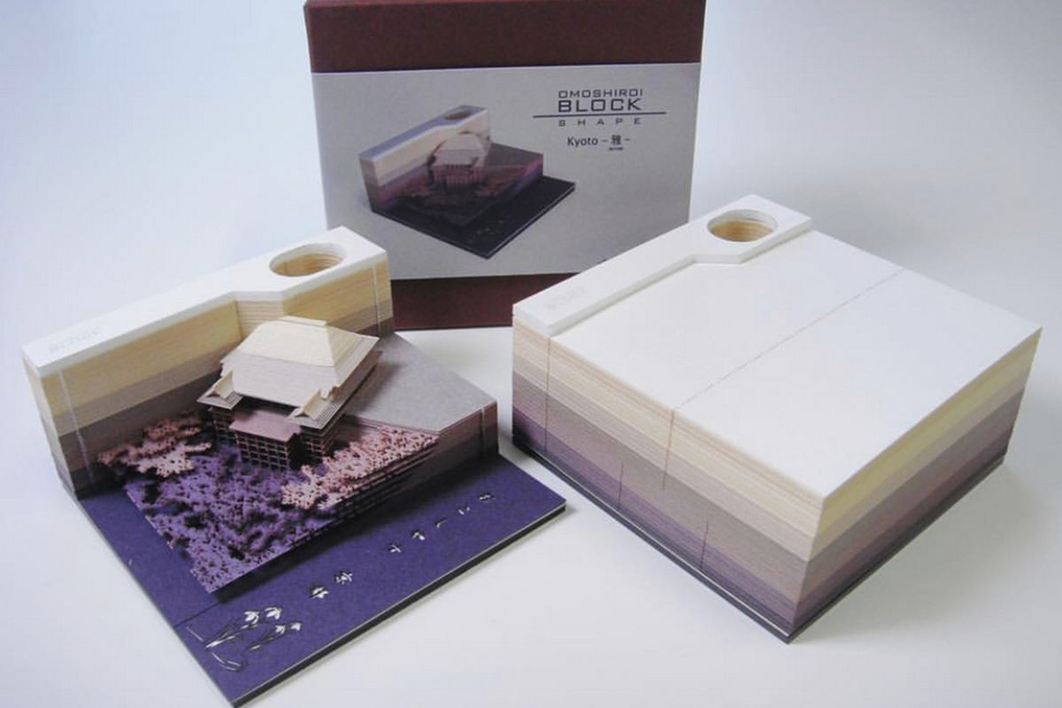 memo pads that reveal architectural model