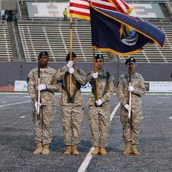 The Eastern Michigan Color Guard