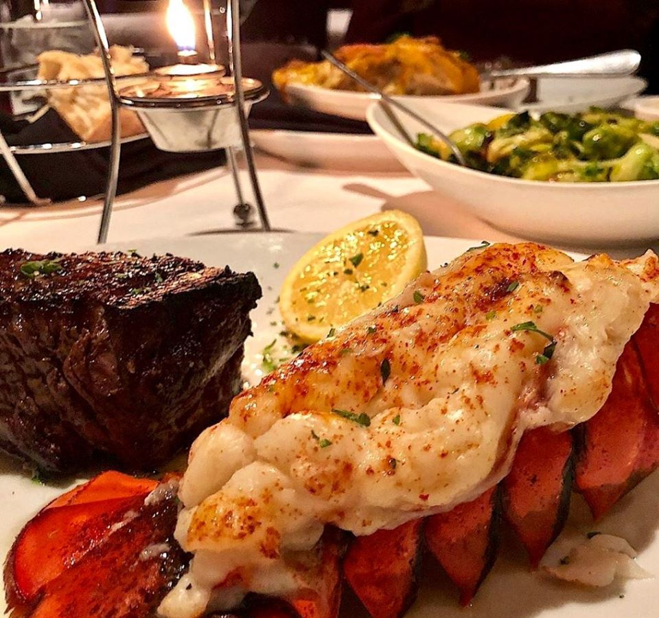 Dine-in with filet mignon and lobster tails at Fleming's Prime Steakhouse & Wine Bar
