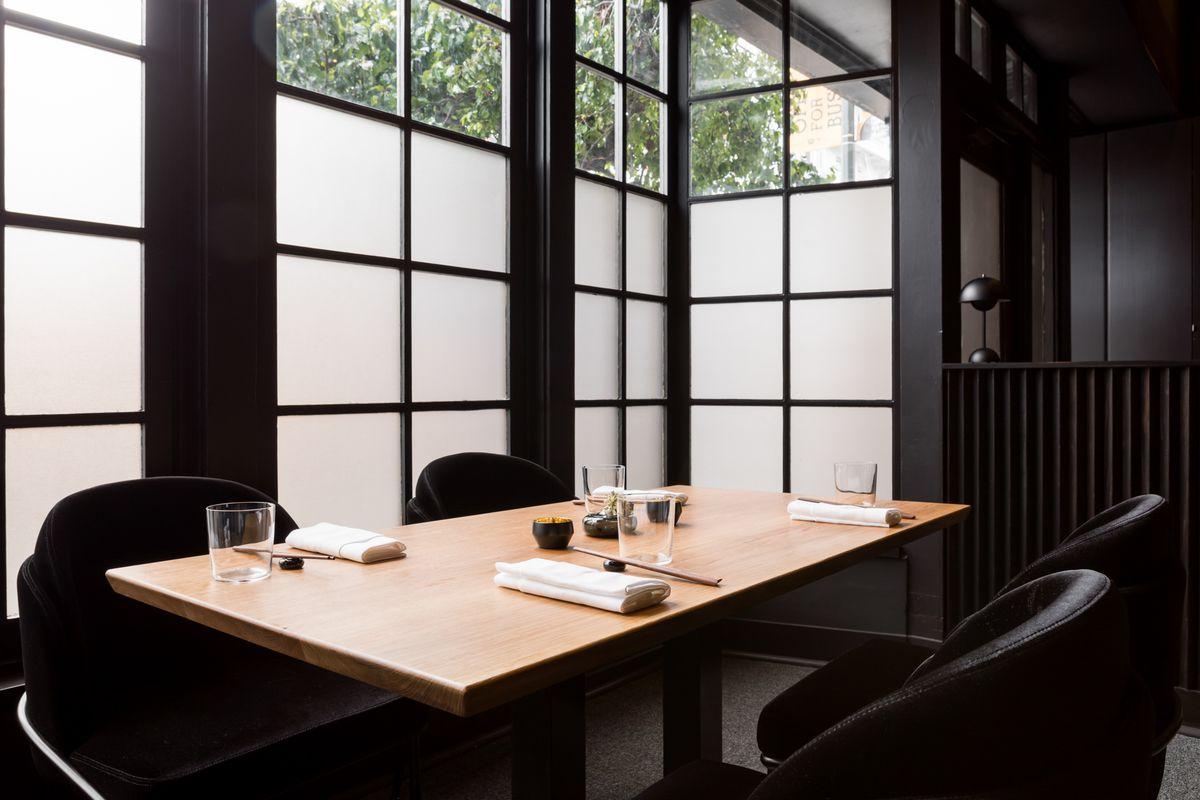 A table at restaurant Nisei