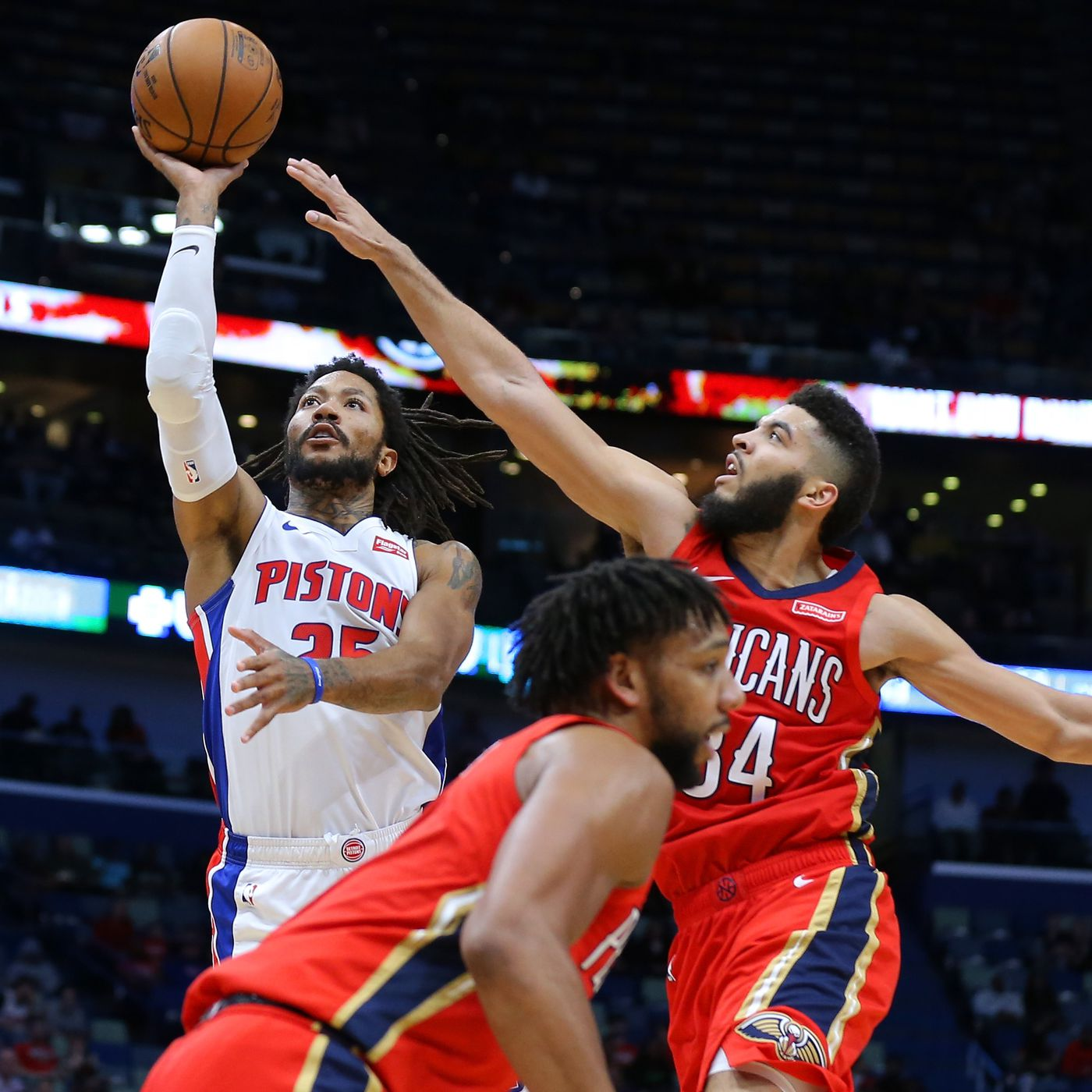 Pistons Pelicans Game Winner Makes Sad New Orleans Announcer Give Up Sbnation Com