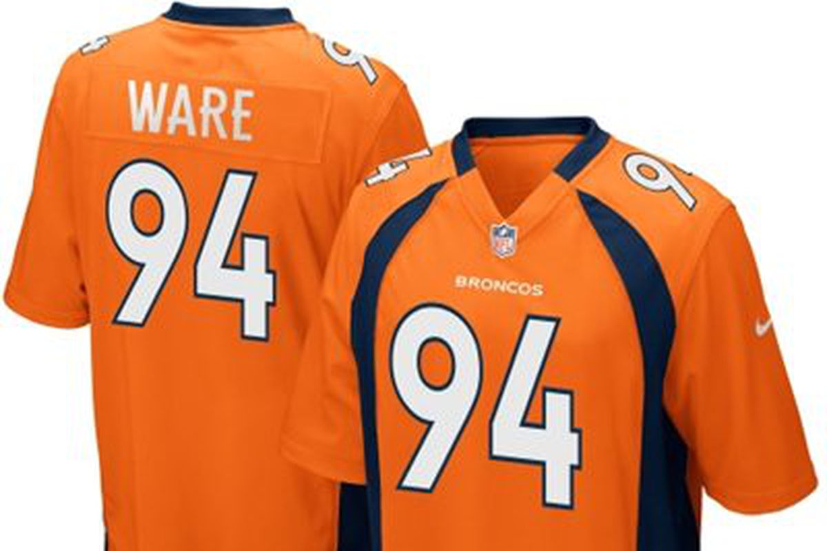 f12e44496 Back in February, we promised to give away a Nike jersey of the Broncos top  selection in the draft. We decided to scratch that idea and offer instead a  ...