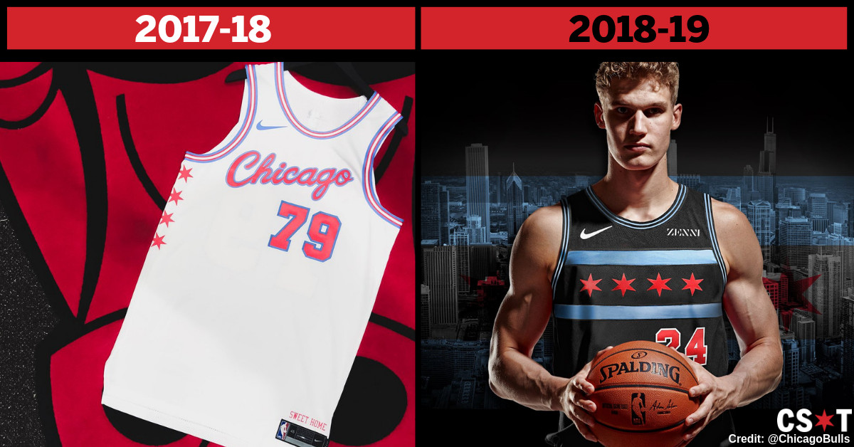 0e09f9599 ... jerseys were white with red and light blue stripes outlining the neck  and arms. There were also four stars down the left side of the jersey.