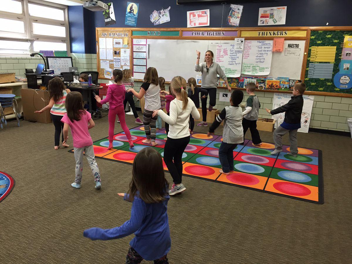 C3 students participate in a Zumba class.