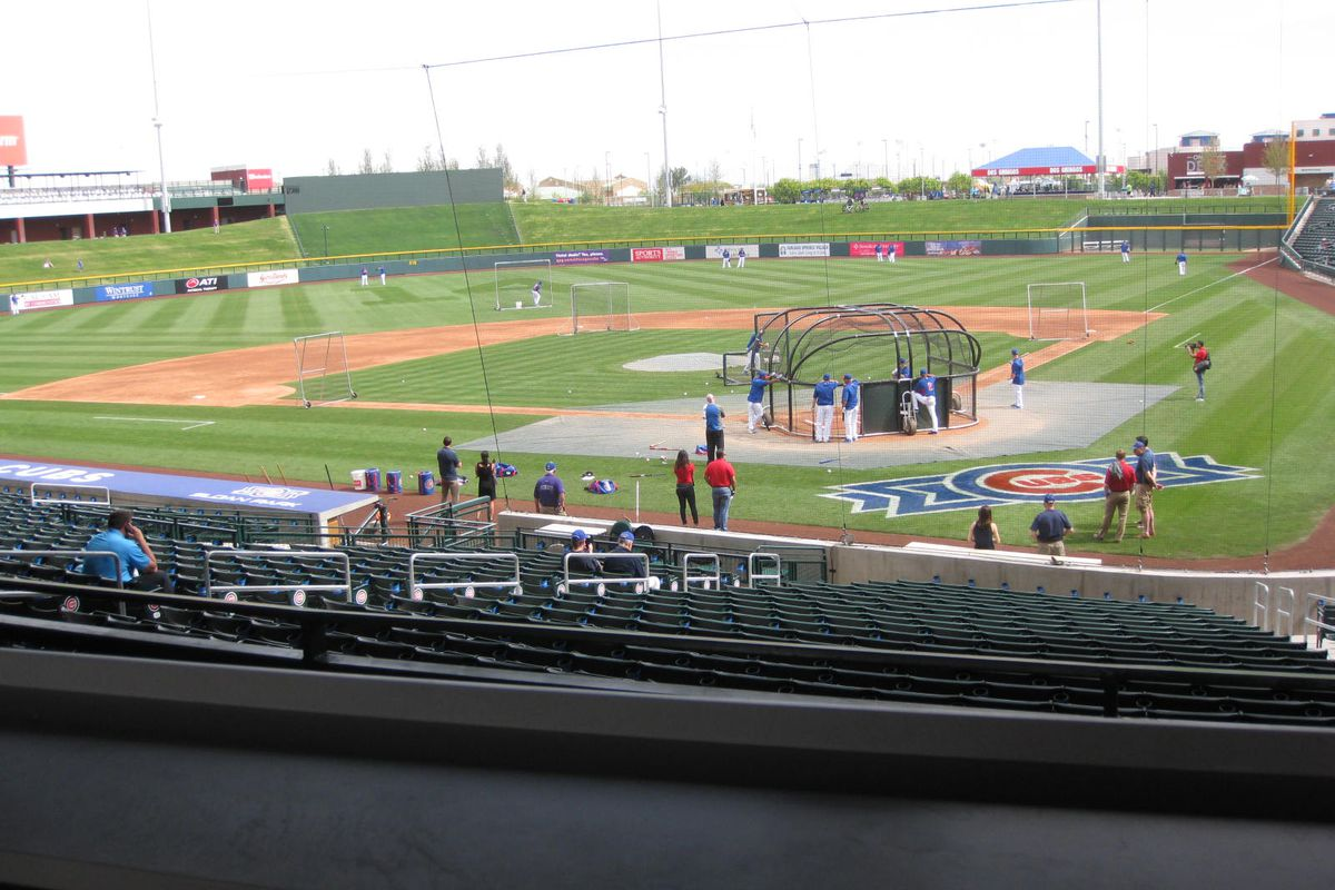 Sloan Park is in its second year of existence, the spring training home of the Cubs in Mesa, Arizona.