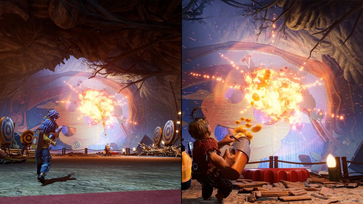 It Takes Two features split-screen co-operative play