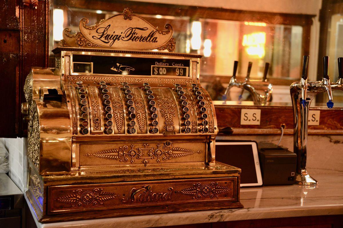 antique looking brass cash register
