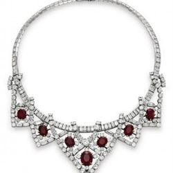 Ruby & Diamond Necklace by Cartier