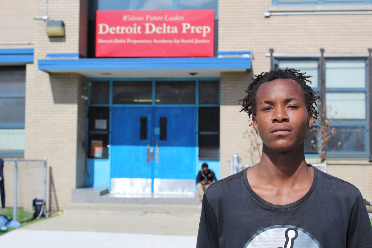Gwendolyn Hunter's son, Emmanuel Hunter, was a senior at Delta Prep the day the school closed. His new school is further away from home.