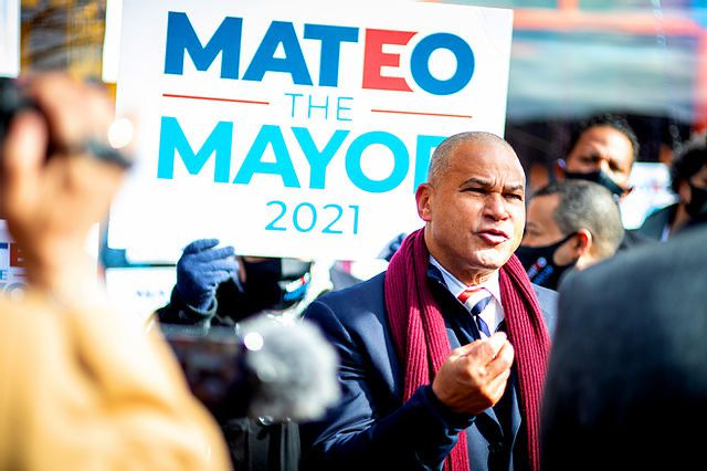 A campaign photograph of NYC mayoral candidate Fernando Mateo.