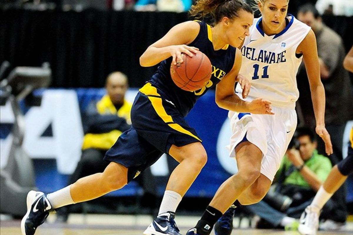 A look at five international prospects for the 2012 WNBA Draft, including Drexel senior Kamile Nacickaite, from Lithuania. (Credit: Evan Habeeb-US PRESSWIRE)
