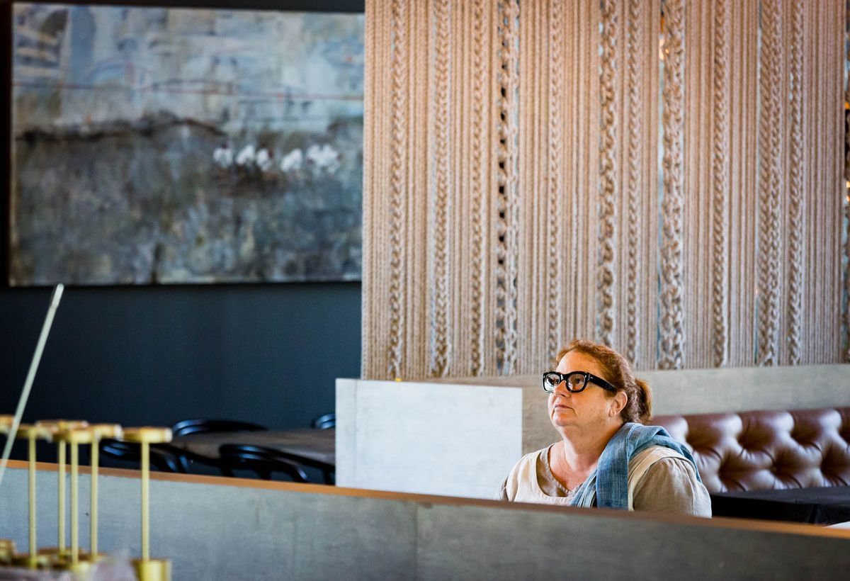 Chef and restaurateur Anne Quatrano contemplates her new space.