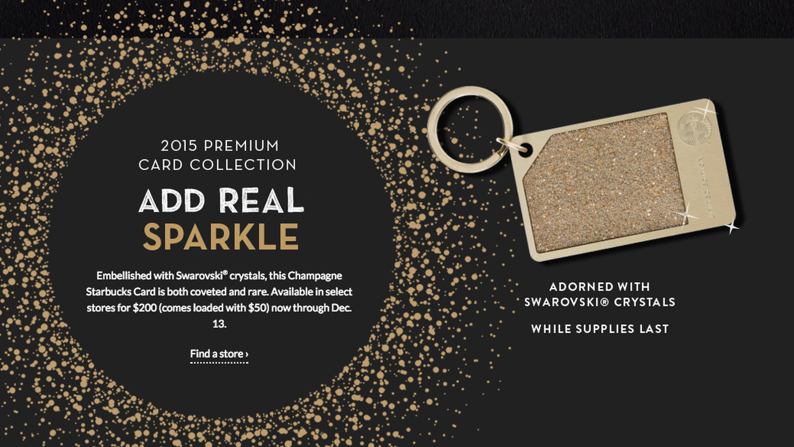 Starbucks' $200 Crystal-Encrusted Gift Cards Are Already ...