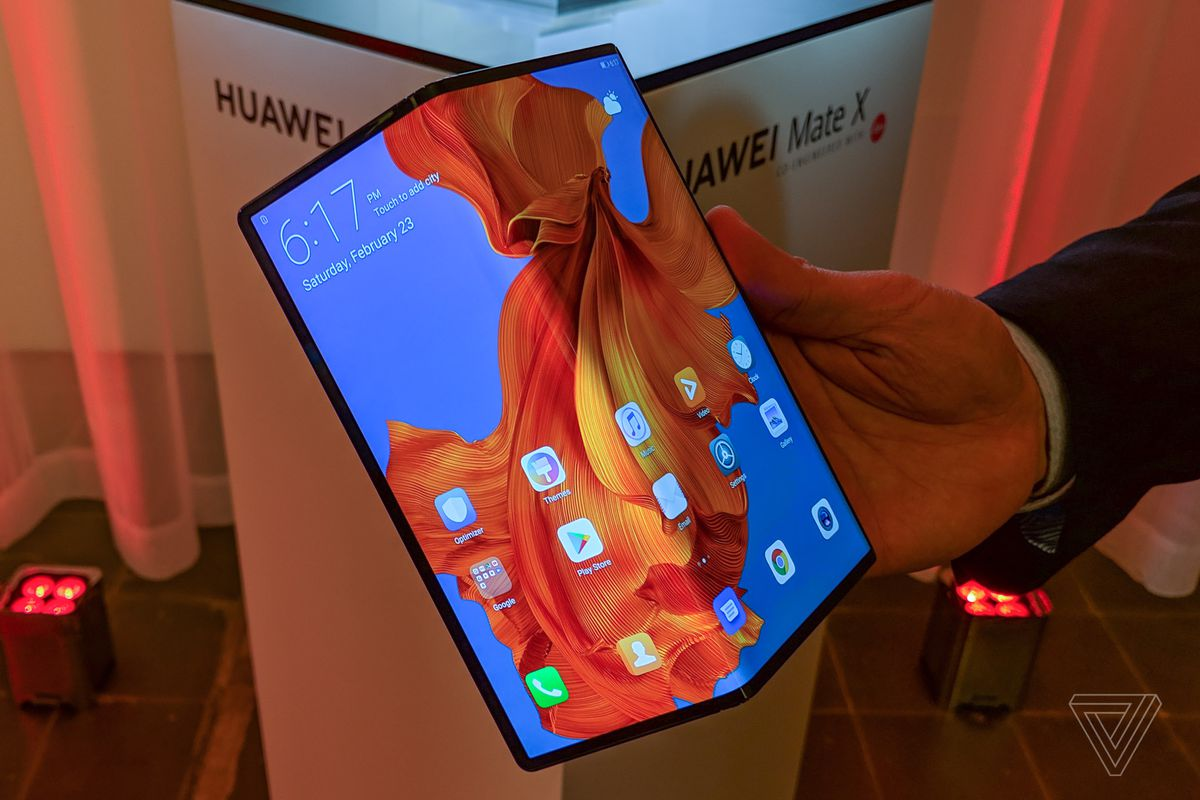 Image result for Huawei says it's selling 100,000 units of foldable Mate X every month