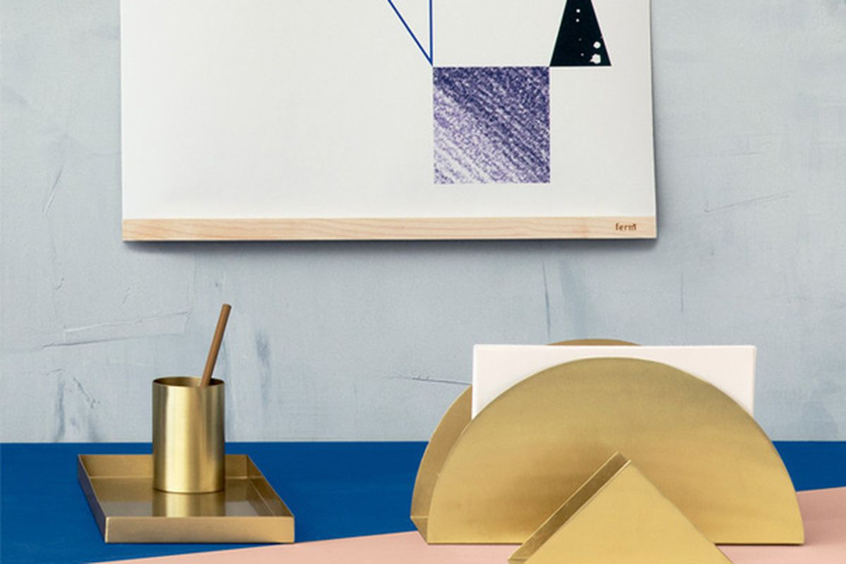 """Product Name, <a href=""""http://www.poketo.com/collections/stationery-alpha-desc/products/brass-desk-set"""">$39 to $125</a> at Poketo"""
