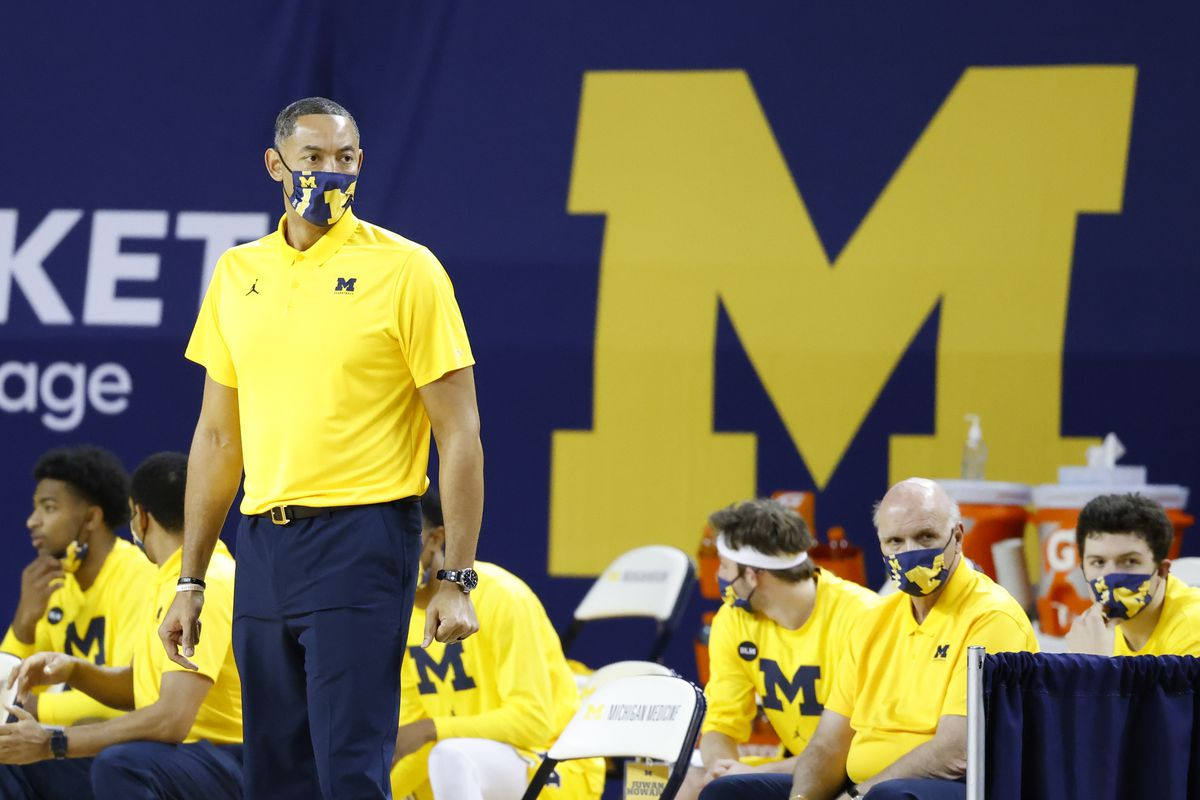 Michigan Wolverines head coach Juwan Howard looks on from the bench area in the first half against the Minnesota Golden Gophers at Crisler Center.