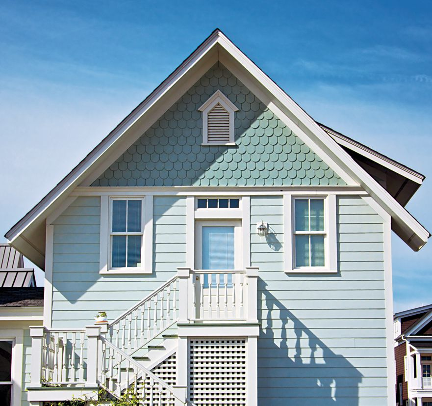 House With Fish Scale Shingles