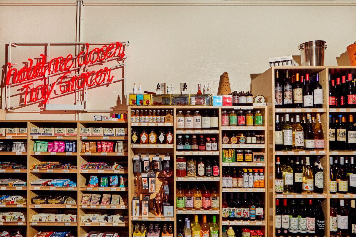 Tiny Grocer's retail shelves