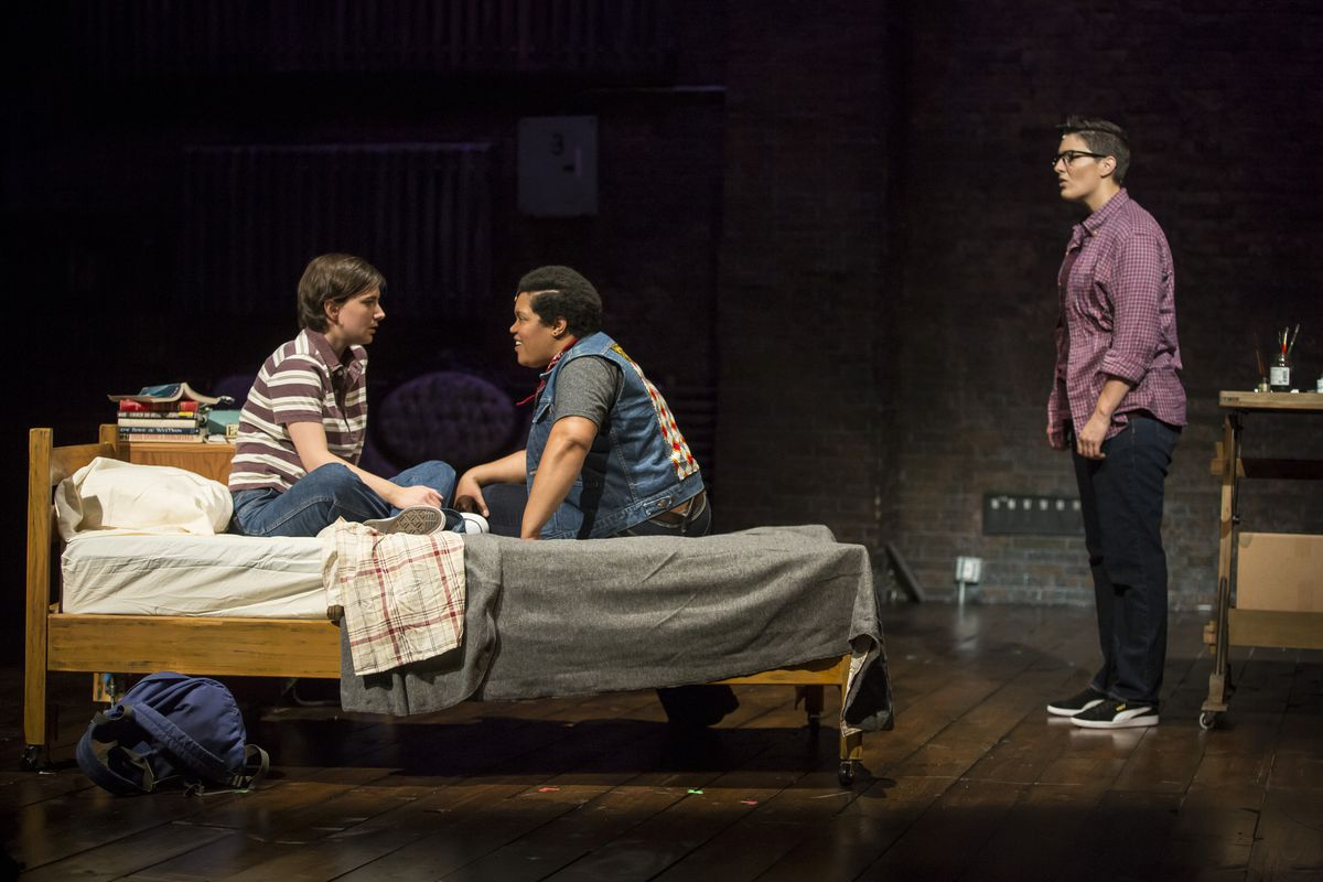 """Hannah Starr (from left), Danielle Davis and Danni Smith in the Victory Gardens Theater production of """"Fun Home.""""   Liz Lauren"""