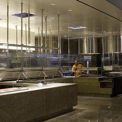 The kitchen at Bacchanal Buffet.