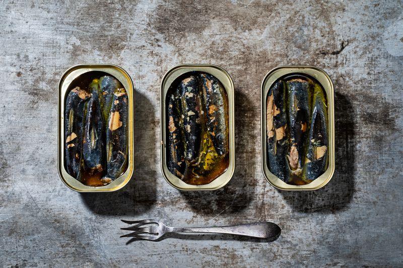 Fish in tins