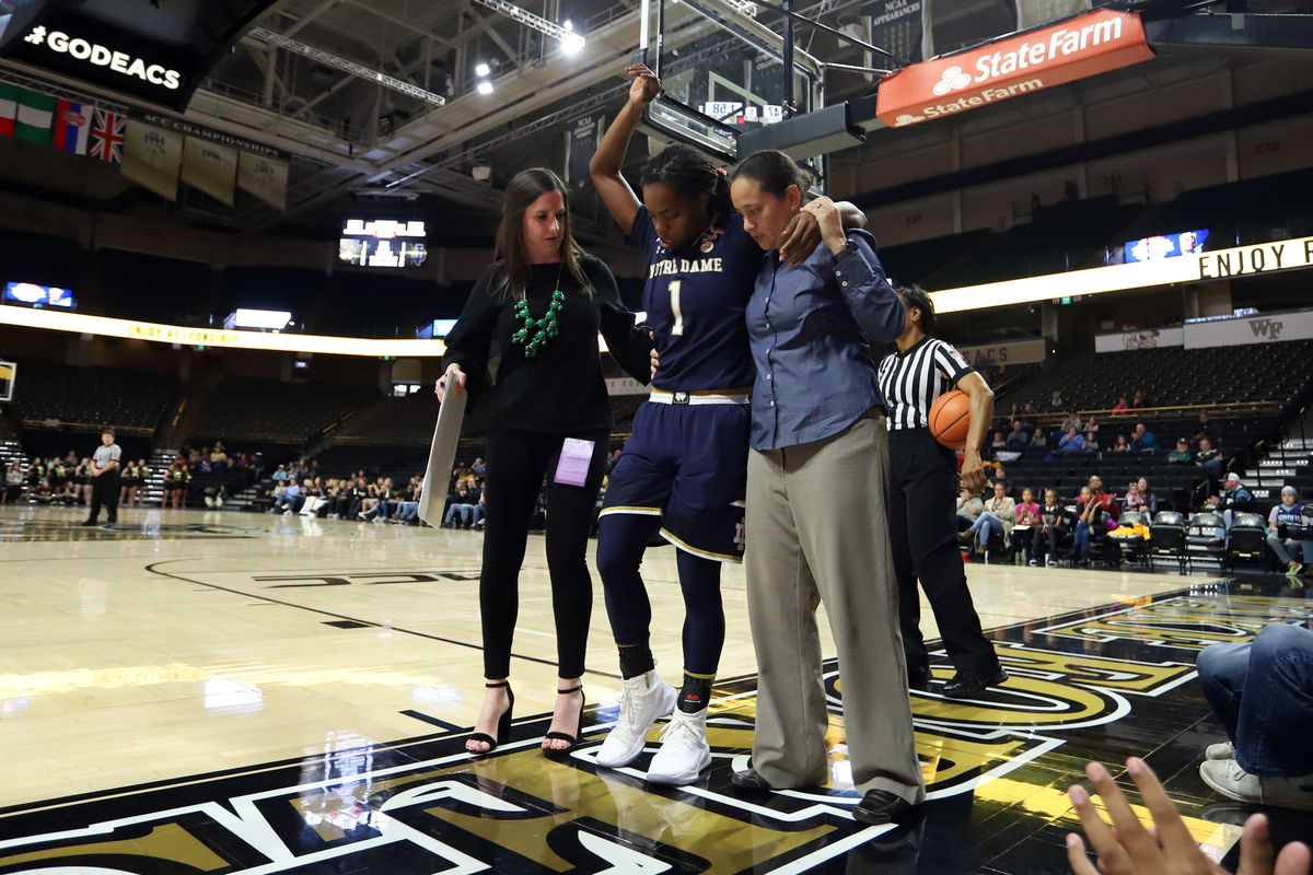 COLLEGE BASKETBALL: DEC 31 Women's - Notre Dame at Wake Forest