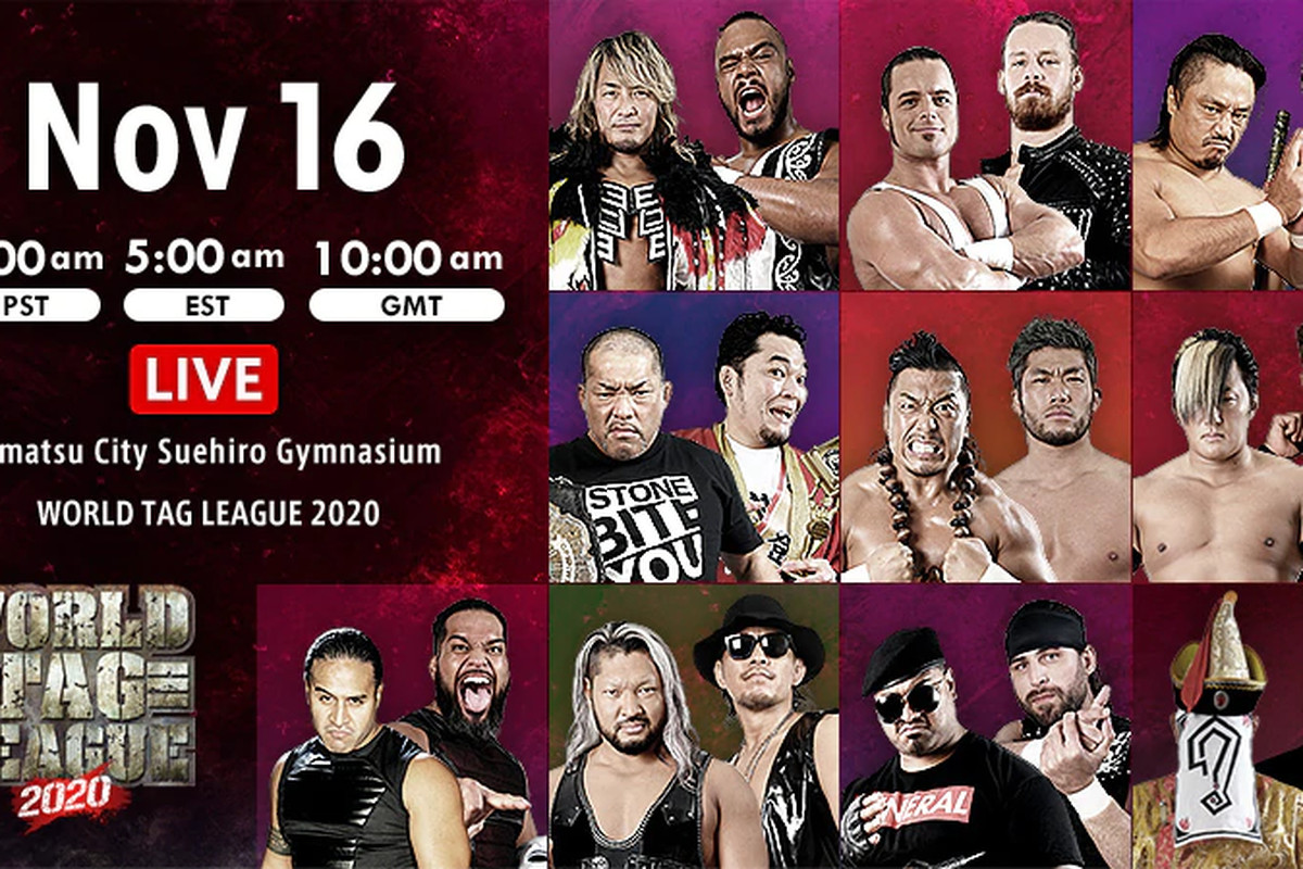 Graphic for World Tag League 2020 night two