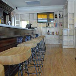 The bar comfortably seats 10 - on comfortable stools no less