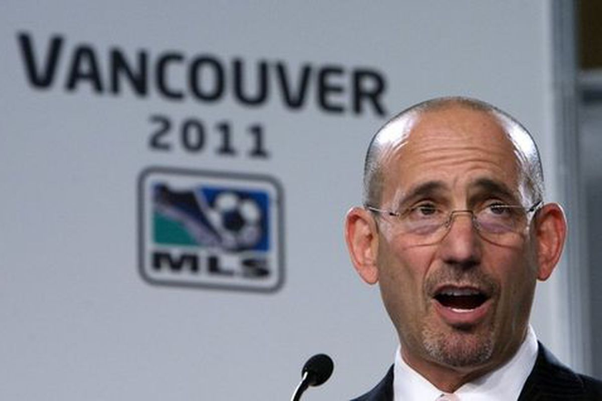 """MLS commissioner <strong>Don Garber</strong>. Love him or hate him, thank """"<strong>The Don</strong>"""" for growing the league in the right ways. (Until there's a second team in New York, that is.)"""