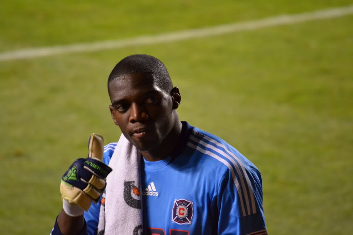 Sean Johnson of the Chicago Fire in 2011 (Photo: Wikimedia Commons/Ryan Byrne)