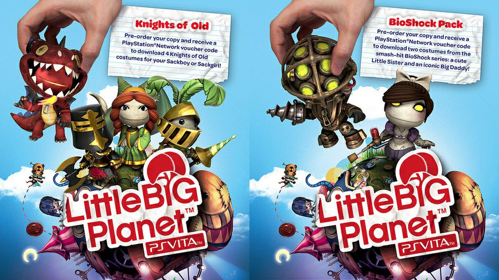 Littlebigplanet Ps Vita Gets Little Sister Big Daddy Bioshock
