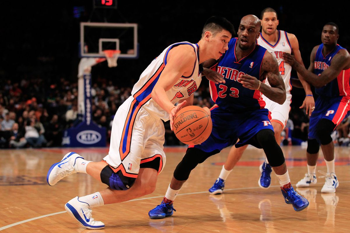 NBA D-LEAGUE products Jeremy Lin and Walker Russell Jr. play against one another in the NBA.