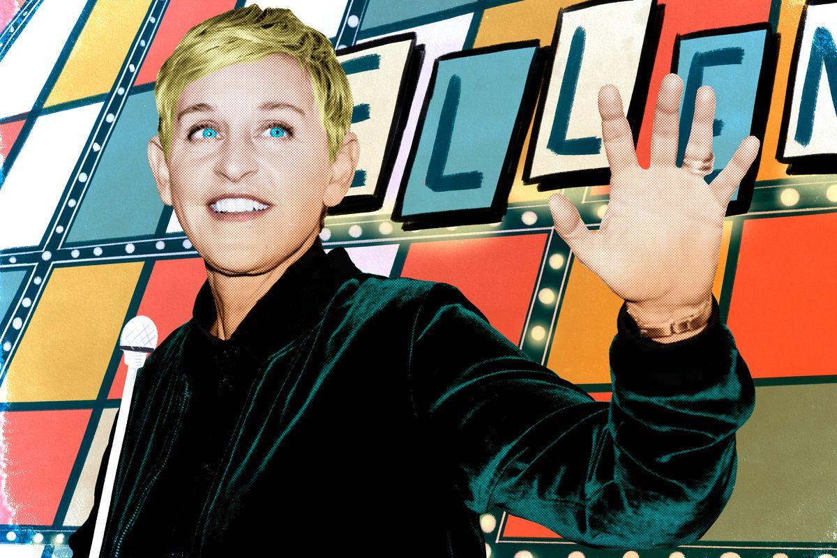 Ellen DeGeneres waving
