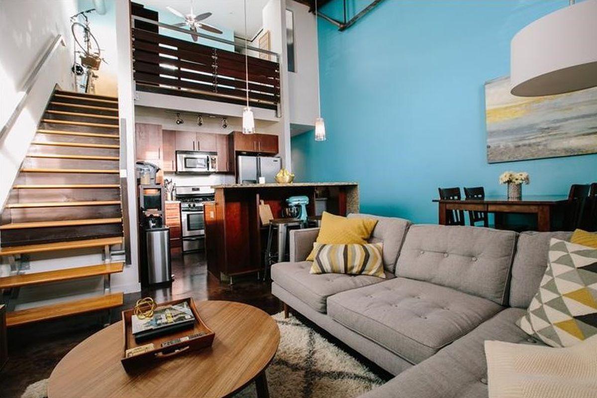 A two-story condo in Inman Park, Atlanta.
