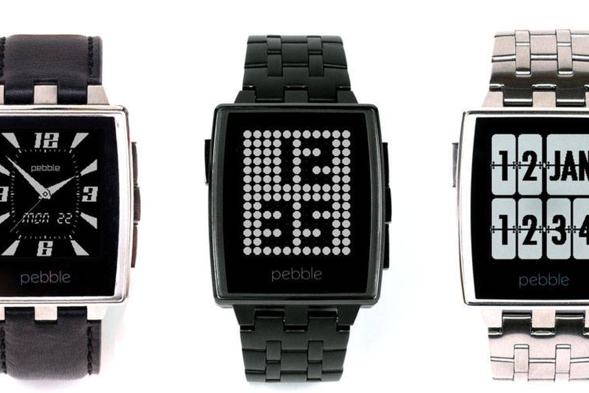 """Pebble Steel; Photo via <a href=""""http://www.harpersbazaar.com/fashion/fashion-articles/wearable-tech"""">Harper's Bazaar</a>"""