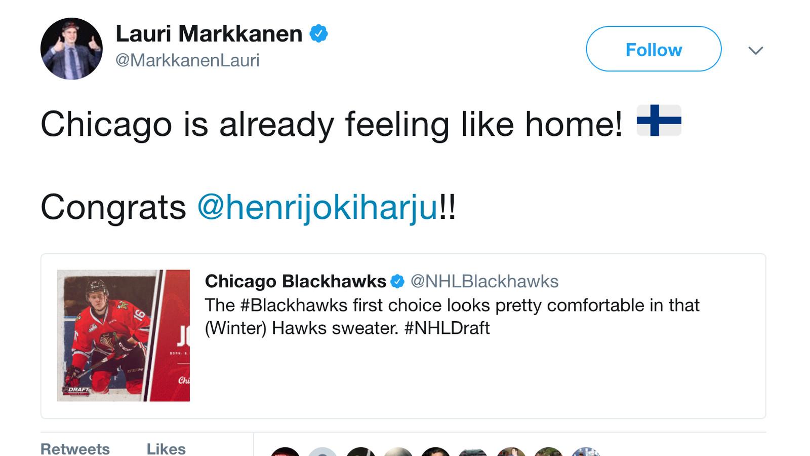 Bulls finnish top draft pick welcomes blackhawks finnish top bulls finnish top draft pick welcomes blackhawks finnish top draft pick to chicago second city hockey voltagebd Gallery