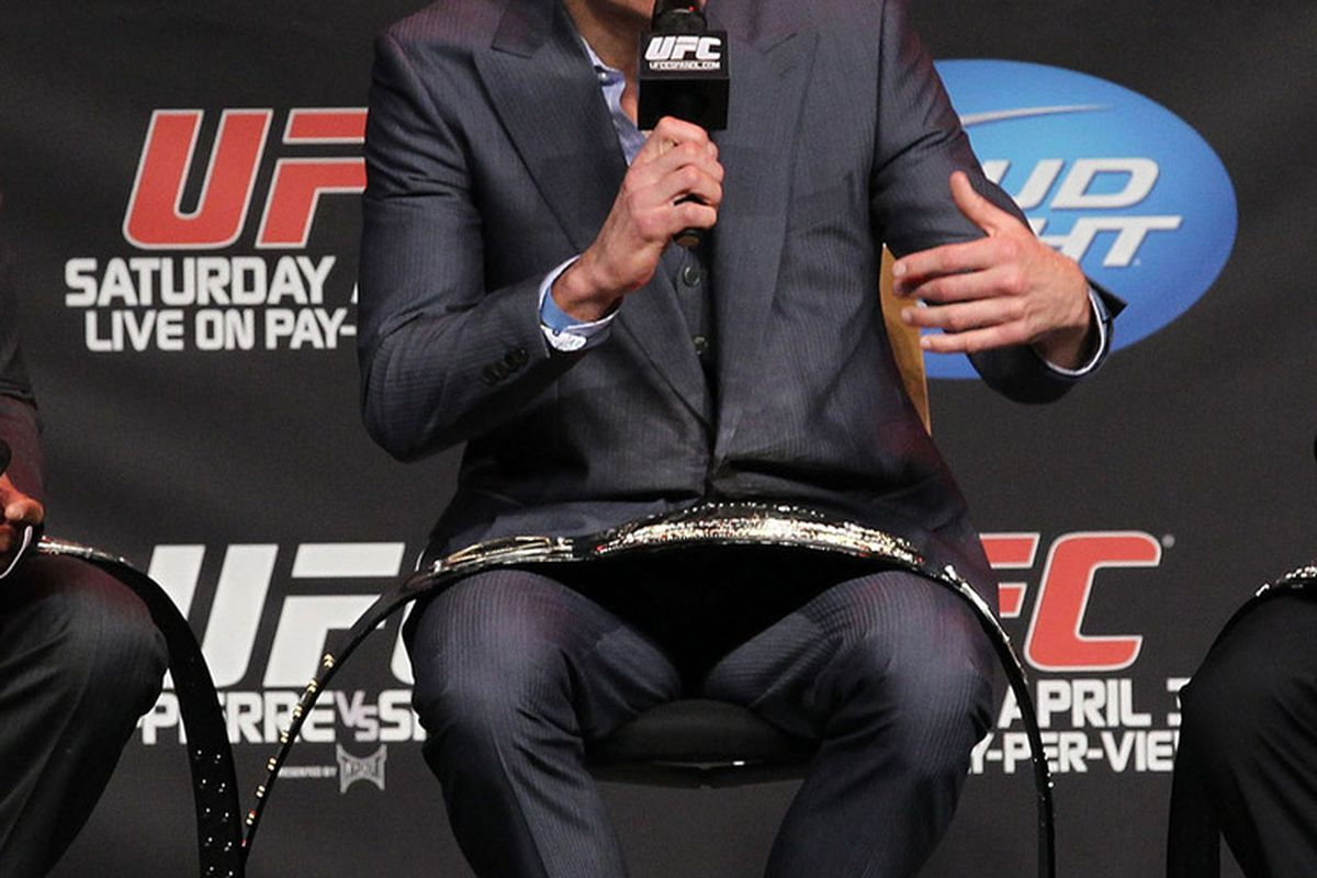 UFC 129 Weigh-In on April 29, 2011 in Toronto, Canada. (Photos from Al Bello/Zuffa LLC/Zuffa LLC via Getty Images)
